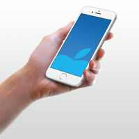 Blue-Apple Wallpaper for iPhone 6 and 6 Plus by kiwimanjaro