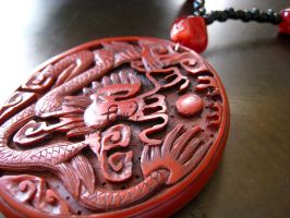 Red Dragon Necklace FOR SALE by ThreeRingCinema