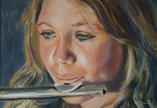 fluteplayer by Eline-portraits
