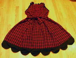 Red and black tartan back by The-Cute-Storm