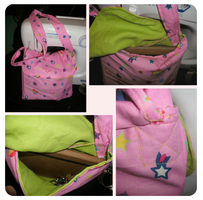 pink + green bag - prototype by obliviousally