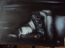 canvas airbrush paint by DepyArt