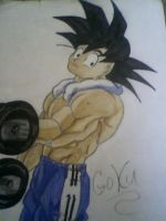 goku workout by gokufangirl