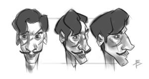 Remus Lupin study sketches by bepydaniele