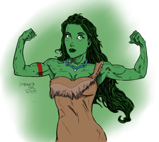 Pocahontas She hulk by DeathStrokeAC