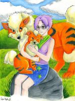 Grrrowly, Arcanine, Growlithe by PacificPikachu