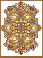 Autumn Mandala Collab by Quaddles-Roost