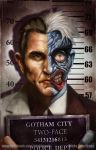 Gotham City Mugshots: Two-Face by pinkhavok
