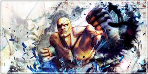 SF4:Sagat signature by kaki-tori