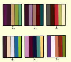 Adoptable Color Palette (50 points each) - OPEN by ConnieMeow