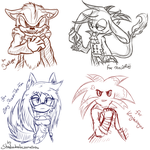 sketch Halfbody commissions 1 by shadowhatesomochao