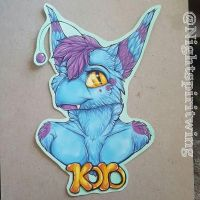 Koro bust badge commission by nightspiritwing