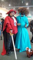 Red Mage and black Mage from Final Fantasy by trivto