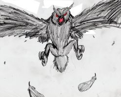 CRYPTID 095A Owlman by MegamanNeos
