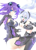 Purple And Black Heart Logo by Stllin2