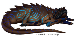 Sleeping dragon: Aredian by iAmDiversity