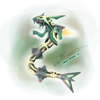 Primal Rayquaza Omega (My Concept) by Renow54