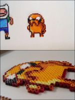 Adventure Time Jake bead sprite by 8bitcraft