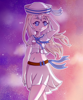 [Commission] Sailor Under the Stars by Kawaii-Says-Meow