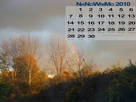 Autumn NaNo10 calendar - 100k by darkspirited1