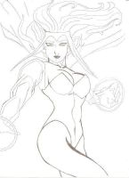 scarlet Witch Sketch by robertarts