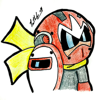 Ready For Battle Proto Man by chelano