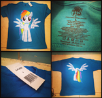 (MLP) Party City Rainbow Dash Large Shirt by KrazyKari