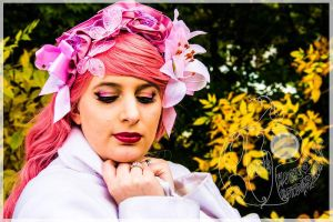 Sunset, Pink, Floral, Ruffles by RabbitTales