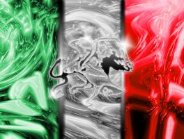 Mexican Flag - Abstract by A-Track