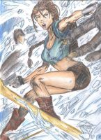 Lara vs Yeti by littlesusie2006