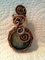 Labradorite weaved in Copper by CrafterGod