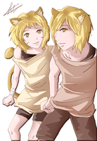 Siblings: Cyde and Crona (original characters) by CinnamonRing