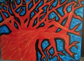 Fire Tree by cottonball