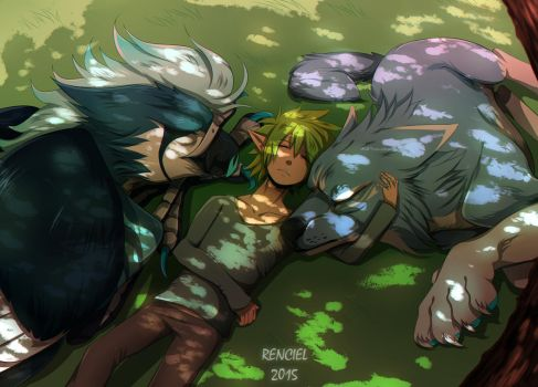 A moment's rest by Renciel