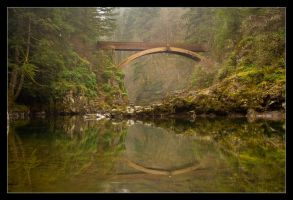 Bridge over Lewis River by futureplug