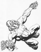 Captain Britain as Gorilla by Stonegate