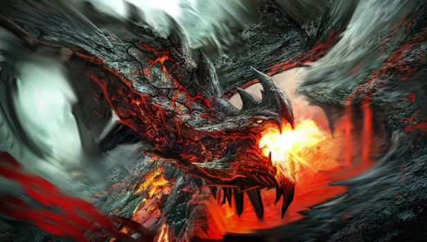 Lava Dragon by GeorgeLovesyArt