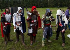 assassin's creed cosplay reunion by micizio