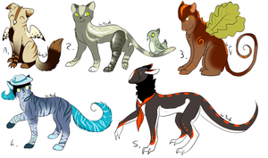 CLOSED - Mixed Adoptables 263 by LeaAdoptables