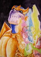 Thanos Watercolor by psdguy
