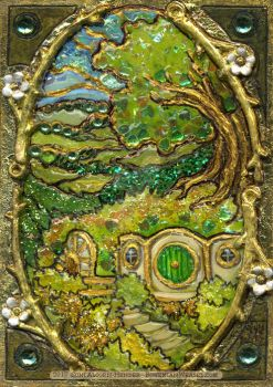 'Stained-glass' Shire miniature by BohemianWeasel