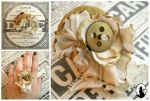 Steampunk ring in white and gold by Miyou-illustration