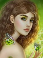 Girl with butterflies by Ennya7