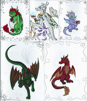 Dragon greeting cards by Just-an--Illusion