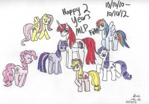 Happy (late) 2 Years MLP FiM!! by Rainbow-Pastel