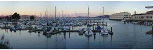 Fisherman's wharf panoramic by DR3AMS1nD1G1TAL