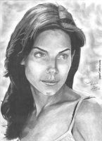 Sandra Bullock portrait by RogueDerek