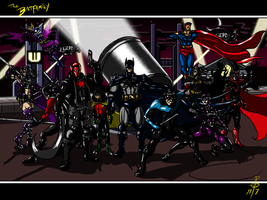 The Batfamily by cheddarpaladin