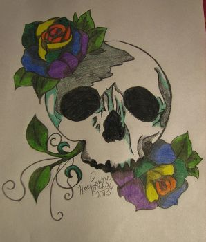 Skull and Roses by Jade1221