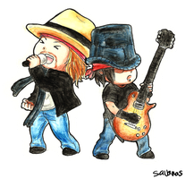 Axl and DJ Chibis by SavanasArt